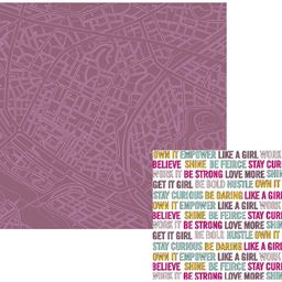 American Craft We R Memory Keepers Urban Chic Collection 12 X 12 Double Sided Paper Wanderlust