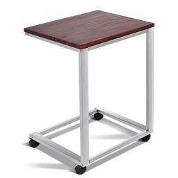 Portable Rolling Stand Sofa Side End Table