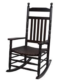 Gift Mark Deluxe Adult Extra Tall Back Rocking Chair - Espresso