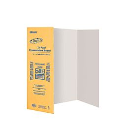 BAZIC 28 inch X 40 inch White Tri-Fold Corrugated Presentation Board Pack oF - 30