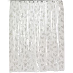 Carnation Home Fashions Autumn Leaves Vinyl Shower Curtain in Silver