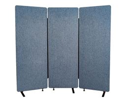Luxor 3 Pack Reclaim Acoustic Room Dividers -  Pacific Blue