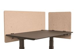 "Luxor Reclaim 2 Pack Desktop Privacy Panel in Desert Sand - 48""W x 24""H"