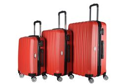 Brio Luggage Hardside Spinner Luggage Set #1600 - Red