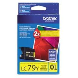 Brother Printer LC79Y Super High Yield (XXL) Yellow Cartridge Ink - Retail Packaging