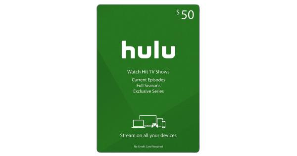 Hulu Gift Card Digital Code - $50 - MassGenie