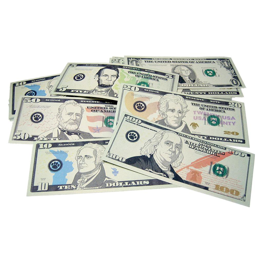 Teacher created resources play money assorted bills 20638