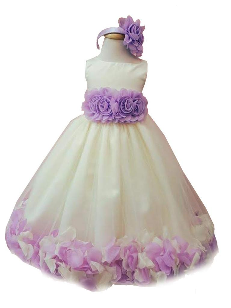 6dcc411f7e1 White And Lilac Flower Girl Dresses - Data Dynamic AG