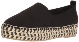 STEVEN by Steve Madden Womens Picco Suede Closed Toe Espadrille Flats
