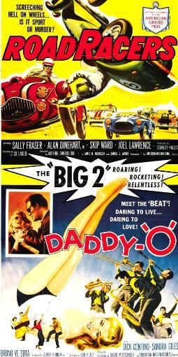 Roadracers Double Bill Poster Art With Title 'Daddy-O' 1959. Movie Poster Masterprint