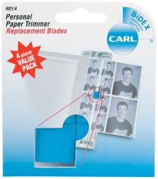 Carl Personal Paper Trimmer Replacement Blades 4/pkg-straight; For Rbt12 & Rbt12n