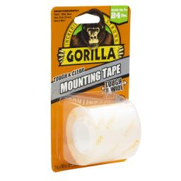 Gorilla Tough & Clear Double Sided 2 in. W x 48 in. L Mounting Tape Clear - Case Of: 1;