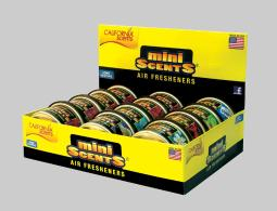 California Scents Mini Scents Assorted Scent Air Freshener 1 pk - Case Of: 12; Each Pack Qty: 1;