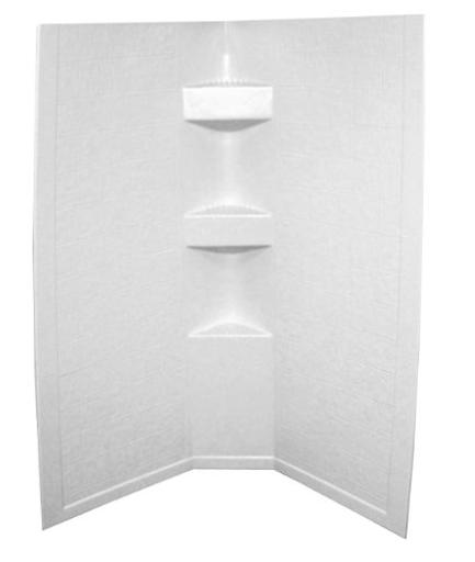 Shower Surround Better Bath 1 Piece Design 34 Inch Length X 34 Inch Width X 64 Inch Height Neo Angle Shower White F