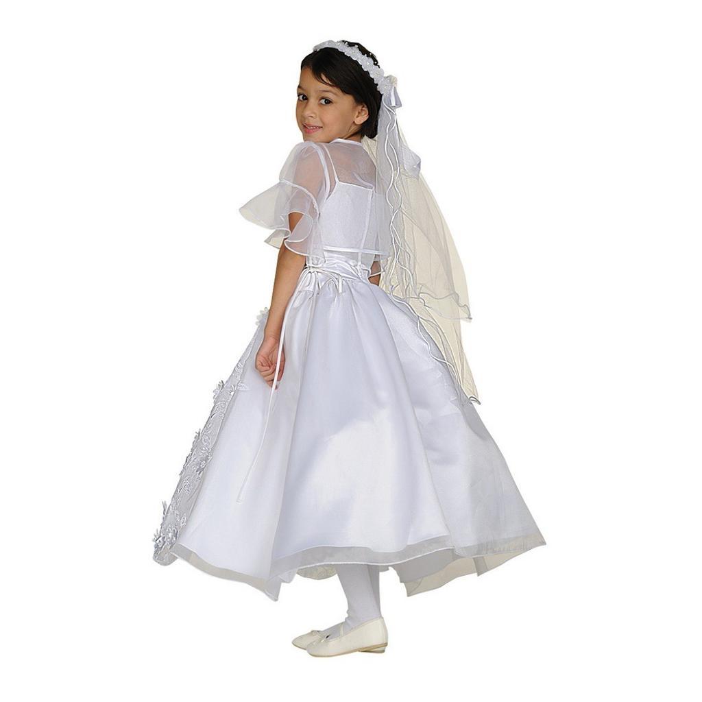 2fcbb0cdd9e Cinderella Couture Cinderella Couture Big Girls White Organza Satin Bolero  Communion Dress 8-16