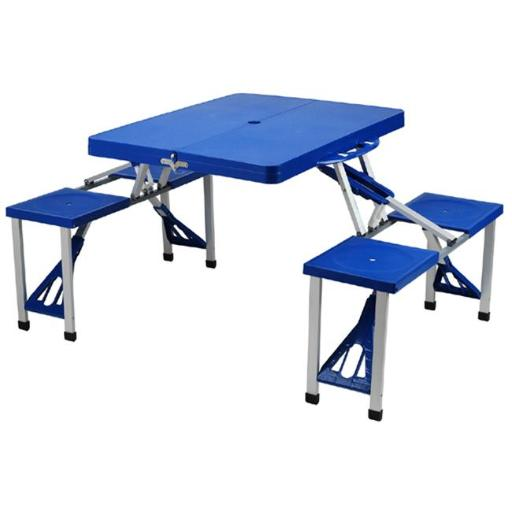 Picnic at Ascot 247-RB Plastic Picnic Table set-Blue