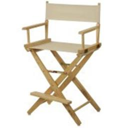 American Trails 206-20-032-12 24 in. Extra-Wide Premium Directors Chair, Natural Frame with Natural Color Cover