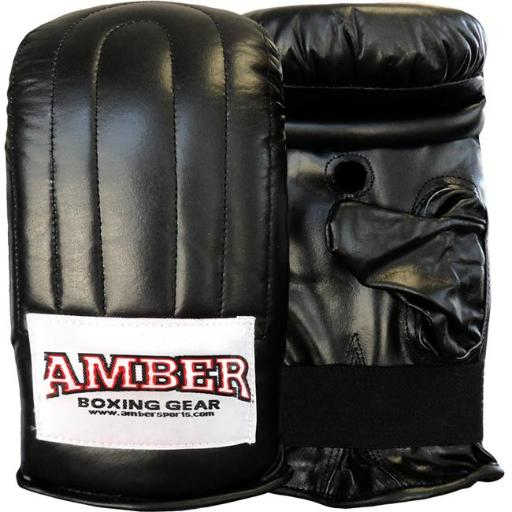 Amber Fight Gear APG-3009-B-L Extreme Boxing Bag Gloves, Large