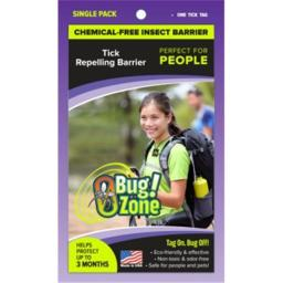 0Bug Zone Tick Barrier Tag for People