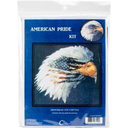 "American Pride Counted Cross Stitch Kit-13""x14.25"" 14 Count"