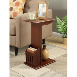 Abby Collection 7103022MG Magazine C End Table, Mahogany