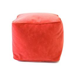 Gold Medal 1BF11058107 Micro-Fiber Suede Bean Bag Ottoman, Flame Red - Small