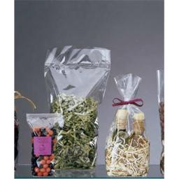 Bags & Bows by Deluxe 690-0512 Clear Hard Bottom Polypropylene Bags - Case of 100 thumbnail