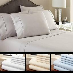 6-Piece Luxury Soft Bamboo Bed Sheet Set in 12 Colors