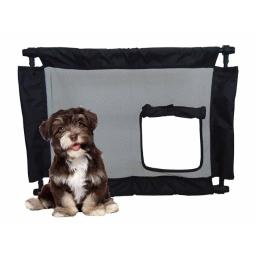 Pet Life PGA1BK Porta Gate Travel Collapsible & Adjustable Folding Pet Cat Dog Gate, Black - One Size