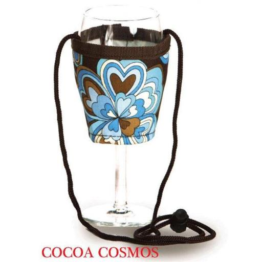 Picnic Plus Psm-167Cc Wine Glass Lanyard - 2- Cocoa Cosmos