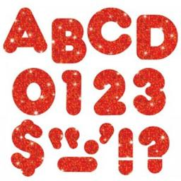 Trend Enterprises T-507BN 2 in. Casual Ready Letters, Red Sparkle - Pack of 6