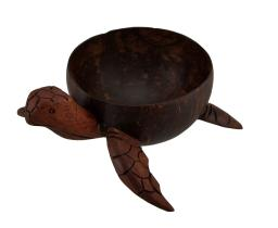 Hand Carved Coconut Turtle Bowl