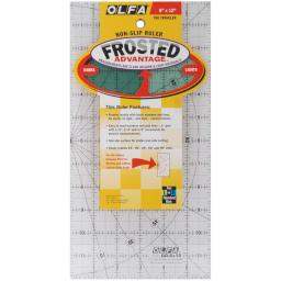 "OLFA Frosted Advantage Non-Slip Ruler ""The Traveler"" 6""X12"""