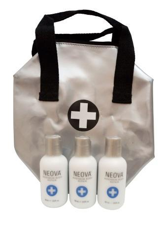 Neova Maximum Body Repair Trio with Travel Case 2.0 oz each