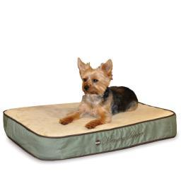 K&H Pet Products 4143 Sage K&H Pet Products Memory Sleeper Pet Bed Small Sage 18 X 26 X 3.75
