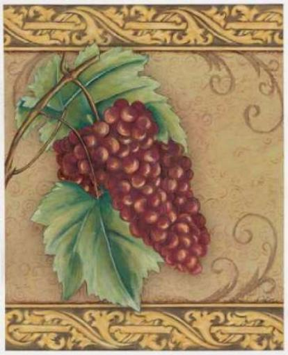 Grape Tapestry I Poster Print by Susan Osborne