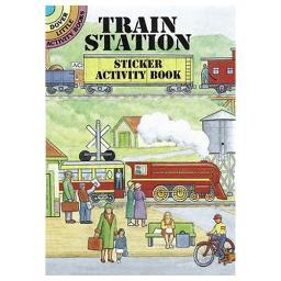 Dover publications 0486405125 train station sticker activity