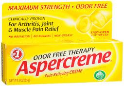 Aspercreme Pain Relieving Creme, Odor Free - 3 Oz, Pack Of 4