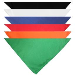 Mechaly Triangle Plain Bandanas - 6 Pack - Kerchiefs and Head Scarf Accessories