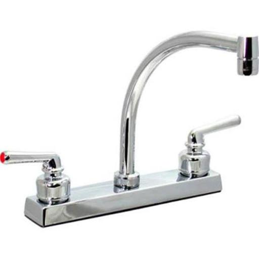 Two-Handle 8 in. Tea Cup Faucet with Chrome Handles