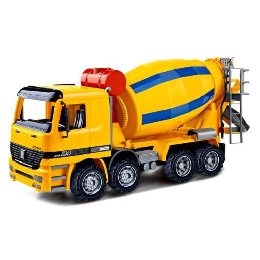 AZImport CT981 14 in. Cement Mixer Construction Vehicle Powered by Friction for Kids