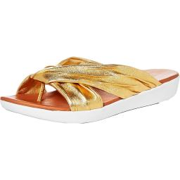 Fitflop Womens Twine  Comfort Insole Shiny Thong Sandals