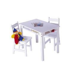 Lipper 534w rect table chair set white