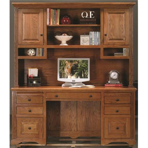 Eagle Furniture 93207NGDK Oak Ridge Double-Pedestal Desk, Dark Oak