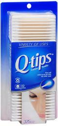 Q-tips Cotton Swabs - 375 ct, Pack of 4