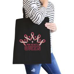 Won The Battle Queen Black Heavy Cotton Canvas Tote Gift For Her