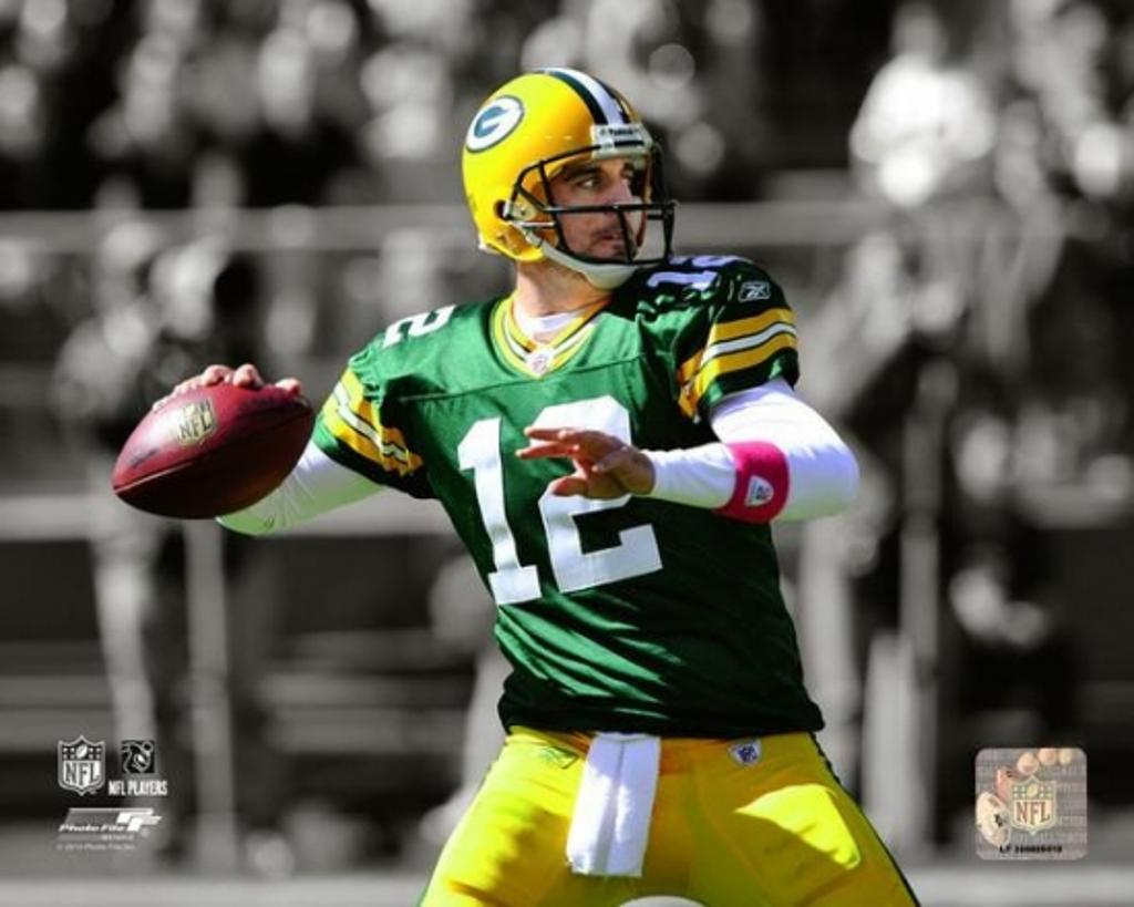 Aaron Rodgers 2010 Spotlight Action Photo Print