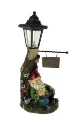Welcome to Garden Lazy Gnome LED Solar Light Statue