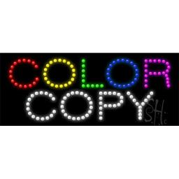 Sign Store L100-0045 Color Copy Animated LED Sign, 27 x 11 x 1 In.