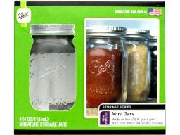 Bll1440080100 ball jar mini 4oz 4pc